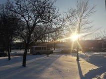 Luz do sol escondida Foto de Stock Royalty Free