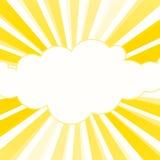 A luz do sol irradia o quadro amarelo ilustração stock