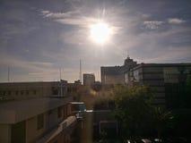 Luz do sol na cidade de Makassar imagens de stock royalty free