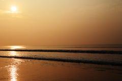 Luz do sol na praia Foto de Stock
