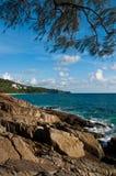 Luz do sol na praia Tailândia de Phuket Imagem de Stock