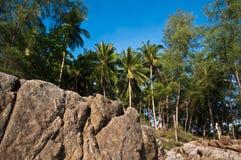Luz do sol na praia Tailândia de Phuket Imagens de Stock