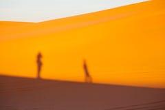 luz do sol no deserto da areia e da duna de Marrocos Foto de Stock Royalty Free
