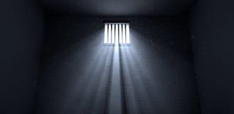 Luz do sol que brilha na janela da cela ilustração do vetor