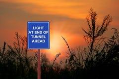 Luz do túnel adiante foto de stock royalty free