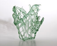 Luz do vaso - verde Fotografia de Stock