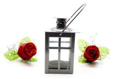 Luz do vento com rosas vermelhas Imagem de Stock