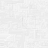 Luz do vetor - teste padrão cinzento da placa de circuito Fotos de Stock Royalty Free