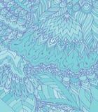 Luz do vetor - ilustração azul do desenho da garatuja Linhas abstratas Imagens de Stock Royalty Free