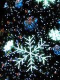 Flocos de neve para o Natal imagem de stock