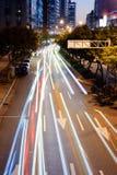 Luz dos carros Imagens de Stock Royalty Free