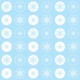 Luz dos flocos de neve do teste padrão ciana Imagem de Stock Royalty Free