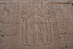 Luz dos hieróglifos a maneira Imagens de Stock Royalty Free