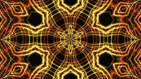 Luz dourada abstrata da fase fundo da rendição 3D Fotos de Stock