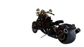 Luz dourada da motocicleta incomum criada dos materiais não padronizados foto de stock royalty free