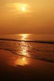 Luz dourada na praia Imagem de Stock