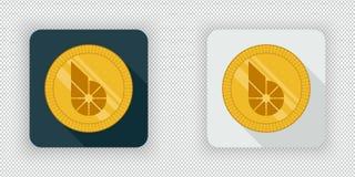 Luz e ícone cripto escuro BitShares da moeda ilustração stock