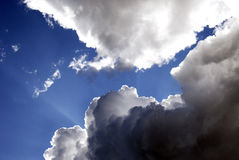 Luz e nuvens Foto de Stock