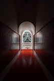 Luz e sombra na porta Fotografia de Stock