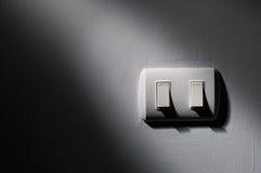 Luz e sombra no interruptor imagens de stock