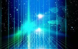 Luz e tecnologia espacial Fotos de Stock