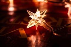 Luz eléctrica formada como estrella Fotografía de archivo