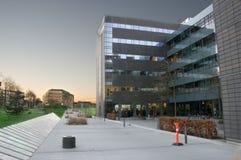 Luz en edificios Foto de archivo libre de regalías