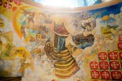 Luz en el chearch de la Virgen Santa foto de archivo libre de regalías