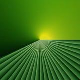 Luz en el extremo de campos verdes libre illustration