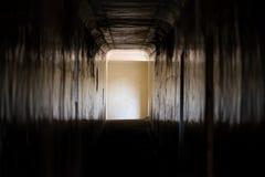 Luz en el extremo del pasillo reflexivo Fotografía de archivo