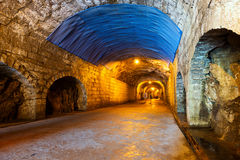 Luz en el extremo del túnel Foto de archivo libre de regalías