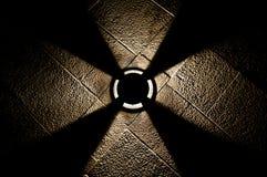 Luz en el pavimento Imagenes de archivo