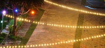 Luz en la Feliz Año Nuevo de la noche Imagenes de archivo