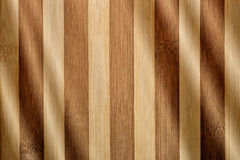 Luz en la madera de bambú Imágenes de archivo libres de regalías