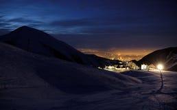 Luz en la noche Fotos de archivo