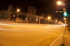 Luz en la noche Imagen de archivo
