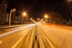 Luz en la noche Foto de archivo libre de regalías