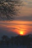 Luz en salidas del sol Fotos de archivo libres de regalías