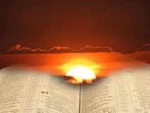 Luz espiritual de la biblia para la humanidad imagen de archivo libre de regalías