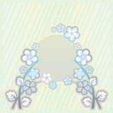 Luz - esverdeie o fundo com ornamento da flor Ilustração Stock