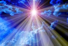 A luz expele o fundo do conceito da escuridão Fotografia de Stock Royalty Free