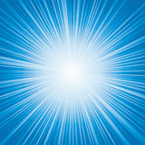 Luz - explosão de cor azul Fotos de Stock
