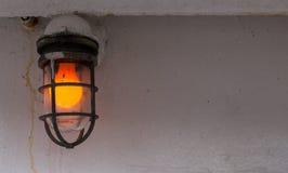 Luz exterior do navio da laranja fotografia de stock