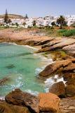 Luz - Feiertagsrücksortierung in Algarve, Portugal. lizenzfreie stockbilder