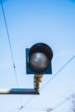 Luz ferroviaria del semáforo Imagenes de archivo