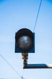 Luz ferroviaria del semáforo Imagen de archivo