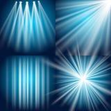 Luz, flash, explosión y resplandor Imagenes de archivo