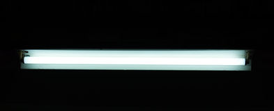 Luz fluorescente recta Imagen de archivo