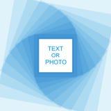 Luz - frame azul Foto de Stock
