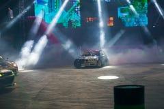 Luz, fumo, carros fotos de stock royalty free